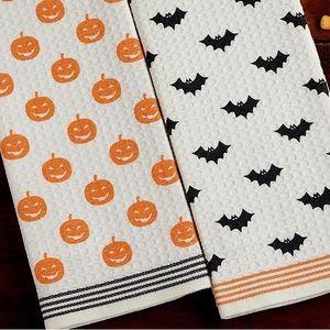 Halloween Dishtowels - set of two